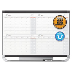 Prestige 2 Magnetic Total Erase 4-Month Calendar, 48 x 36, Graphite Color Frame