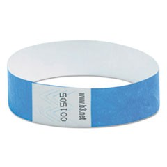 "Security Wristbands, 0.75"" x 10"", Blue, 100/Pack"