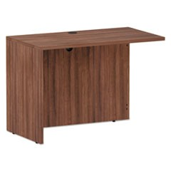Alera Valencia Series Reversible Return/Bridge Shell, 42w x 23 5/8d x 29 1/2h, Modern Walnut