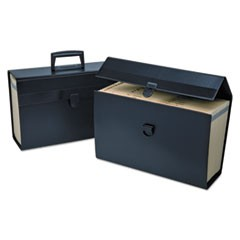 "Letter/Legal Expanding Organizer, 15"" Expansion, 19 Sections, 1/19-Cut Tab, Legal Size, Black"