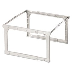 "Plastic Snap-Together Hanging Folder Frame, Legal/Letter Size, 18"" to 27"" Long, White/Silver Accents"
