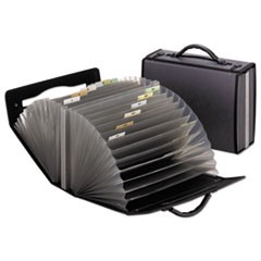 26-Pocket Document Carrying Case, 26 Sections, Letter Size, Smoke