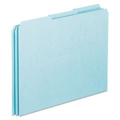 Blank Top Tab File Guides, 1/3-Cut Top Tab, Blank, 8.5 x 11, Blue, 100/Box