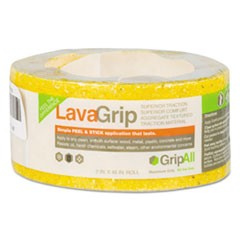 "LavaGrip Anti-Slip Adhesive Strips, 6"" x 48"", Yellow"