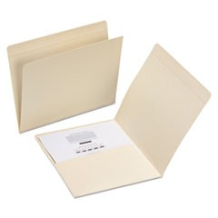 Top Tab File Folders with Inside Pocket, Straight Tab, Letter Size, Manila, 50/Box