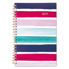 Carousel Stripe Weekly/Monthly Planners, 4 7/8 x 8, Navy, Pink, 2019