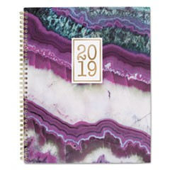 Agate Weekly/Monthly Planners, 8 1/2 x 11, Purple, 2019