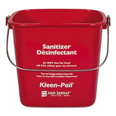 Kleen-Pail, Plastic, Red, 12/Carton