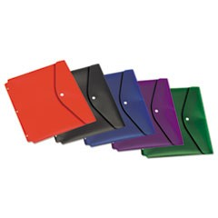 Dual Pocket Snap Envelope, 11 x 8 1/2, Assorted, 5/Pack