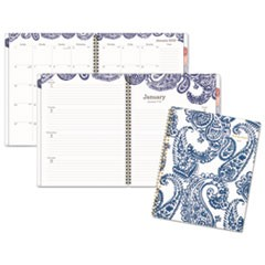 Paige Weekly/Monthly Planner, 8 1/2 x 11, Navy/White, 2019