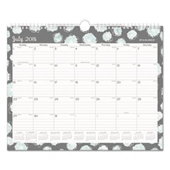 Mint Flora Academic Year Wall Calendar, 15 x 12, 2018-2019