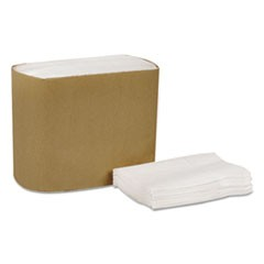 "Universal Lowfold Dispenser Napkins, 1-Ply, 7"" x 12"", White, 334/PK, 24PK/CT"