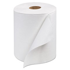 Universal Hand Towel Roll, 1-Ply, White, 600 ft/Roll, 12 Rolls/Carton