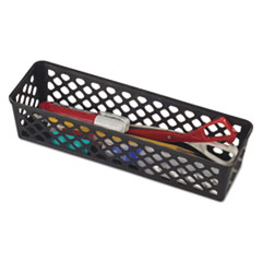 "Recycled Supply Basket, 10.125"" x 3.0625"" x 2.375"", Black"