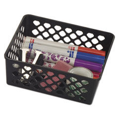 "Recycled Supply Basket, 6.125"" x 5"" x 2.375"", Black"