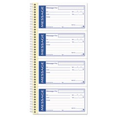 1Write 'n Stick Phone Message Pad, 2 3/4 x 4 3/4, Two-Part Carbonless, 200 Forms