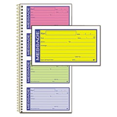 1Wirebound Telephone Message Book, Two-Part Carbonless, 200 Forms
