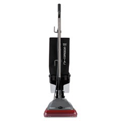 TRADITION Upright Vacuum with Dust Cup, 5 amp, 14 lb, Gray/Red