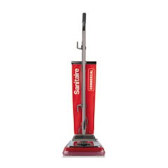 TRADITION Upright Vacuum with Shake-Out Bag, 17.5 lb, Red