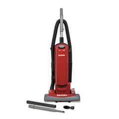 1FORCE QuietClean Upright Bagged Vacuum, Sealed HEPA, 23 lb, 4.5 qt, Red