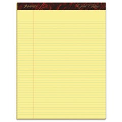 Gold Fibre Writing Pads, Narrow Rule, 8.5 x 11.75, Canary, 50 Sheets, Dozen