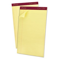 Gold Fibre Writing Pads, Narrow Rule, 8.5 x 14, Canary, 50 Sheets, Dozen