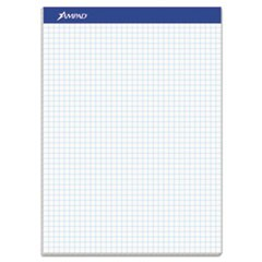 Quad Double Sheet Pad, 4 sq/in Quadrille Rule, 8.5 x 11.75, White, 100 Sheets