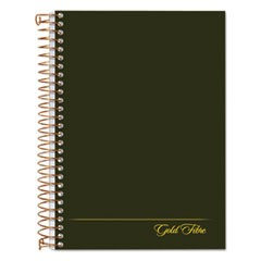 Gold Fibre Personal Notebooks, 1 Subject, Medium/College Rule, Classic Green Cover, 7 x 5, 100 Pages