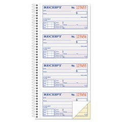 1Two-Part Rent Receipt Book, 2 3/4 x 4 3/4, Carbonless, 200 Forms