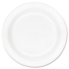 "Concorde Foam Plate, 10 1/4"" dia, White, 125/Pack, 4 Packs/Carton"