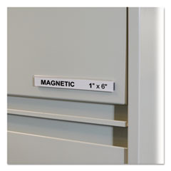 "HOL-DEX Magnetic Shelf/Bin Label Holders, Side Load, 1"" x 6"", Clear, 10/Box"