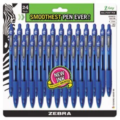 Z-Grip Retractable Ballpoint Pen, Blue Ink, Medium, 24/Pack