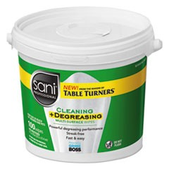 "Multi-Surface Cleaning Wipes, 10"" x 11.5"", 100 Wipes/Bucket, 2 Buckets/CT"