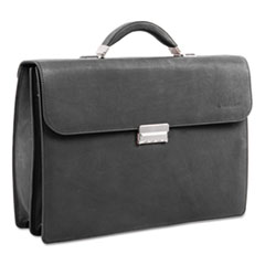 "Milestone Briefcase, Holds Laptops 15.6"", 5"" x 5"" x 12"", Black"