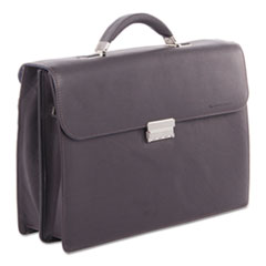 "Milestone Briefcase, Holds Laptops, 15.6"", 5"" x 5"" x 12"", Brown"