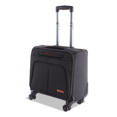 "Purpose Overnight Business Case On Spinner Wheels, 9.5"" x 9.5"" x 17.5"", Black"