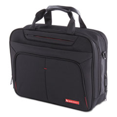 "Purpose Executive Briefcase, Holds Laptops 15.6"", 3.5"" x 3.5"" x 12"", Black"