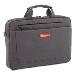 "Cadence Slim Briefcase, Holds Laptops 15.6"", 3.5"" x 3.5"" x 16"", Charcoal"