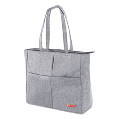 "Sterling Ladies Tote Bag, Holds Laptops 15.6"", 5.25"" x 5.25"" x 13.25"", Gray"