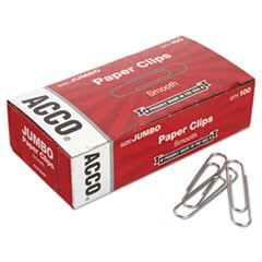 Smooth Economy Paper Clip, Jumbo, Silver, 100/Box, 10 Boxes/Pack