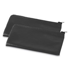 1Zippered Wallets/Cases, 11w x 6h, Black, 2/PK