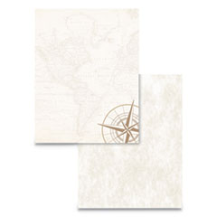 Pre-Printed Paper, 24 lb, 8.5 x 11, Map and Compass, 50/Pack