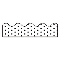 "Scalloped Borders, 2.25"" x 39 ft, White with Black Dots, 13/Pack"