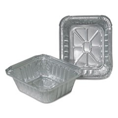 Aluminum Closeable Containers, 1 lb Oblong, 1000/Carton
