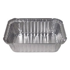 Aluminum Closeable Containers, 1.5 lb Deep Oblong, 500/Carton