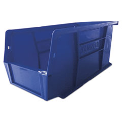 Plastic Stacking and Hanging Parts Bin, 5w x 10.9d x 5.5h, Blue, 12/Pack