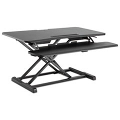 "AdaptivErgo Sit-Stand Workstation, 37.38"" x 26.13"" x 4.33"" to 19.88"", Black"