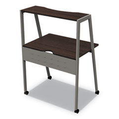 Kompass Flexible Home/Office Desk, 33w x 23.4d x 48h, Mocha