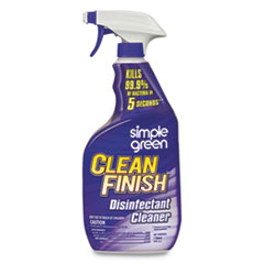 Clean Finish Disinfectant Cleaner, 32 oz Bottle, Herbal, 12/CT