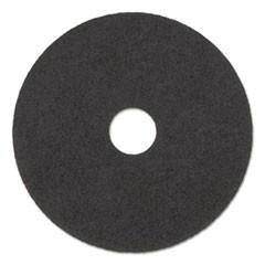 "High Performance Stripping Floor Pads, 17"" Diameter, Grayish Black, 5/Carton"